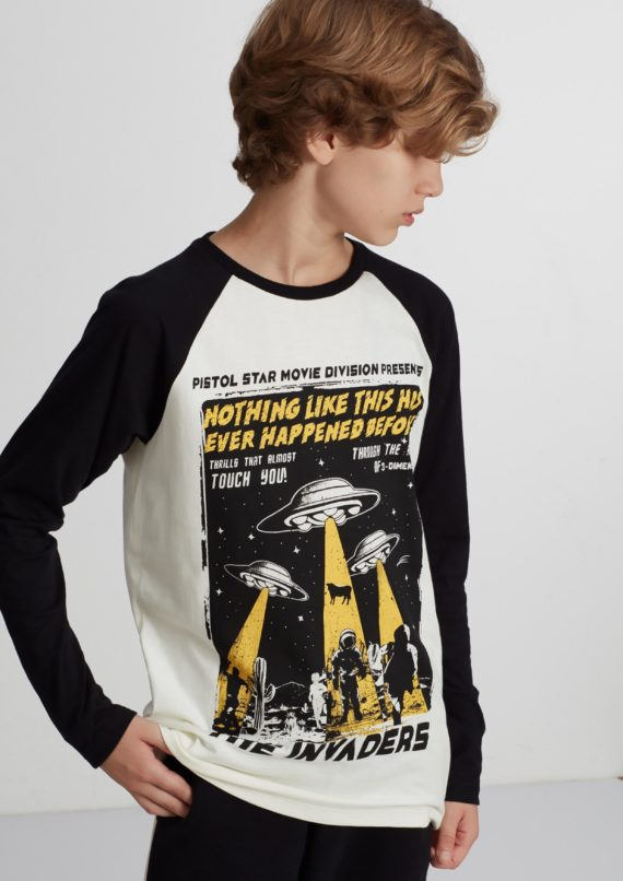 Camiseta Unissex de Manga longa Infantil Pistol Star Drake