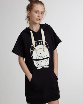 Vestido Infantil com Capuz Pistol Star Kika