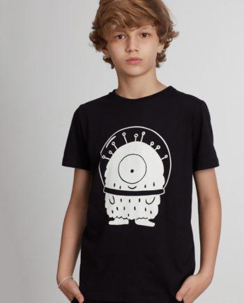 Camiseta Unissex de Manga Curta Infantil Pistol Star Ico