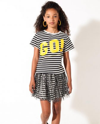 saia tule camiseta infantil feminina