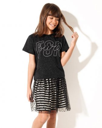 camiseta infantil feminina Pistol Star
