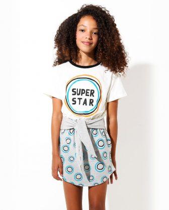 vestido infantil estampado moletom meninas