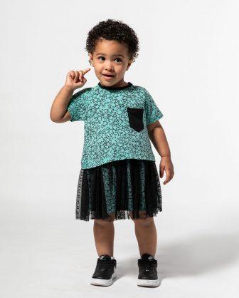 vestido infantil bebês saia de tule