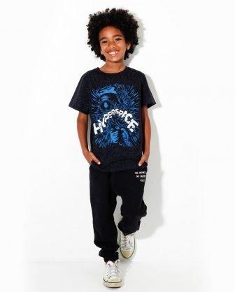 camiseta estampada calça moletom infantil verão 2021 meninos