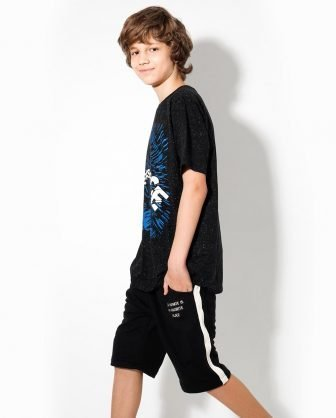 camiseta estampada bermuda moletom infantil verão 2021 meninos